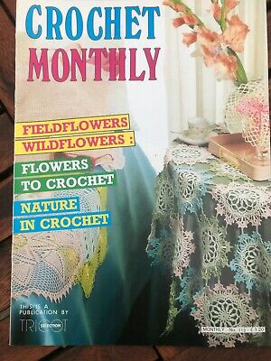 £2.50 • Buy Crochet Monthly No. 113 14 Patterns Cushion Cover, Tablecloths, Filet, Mats