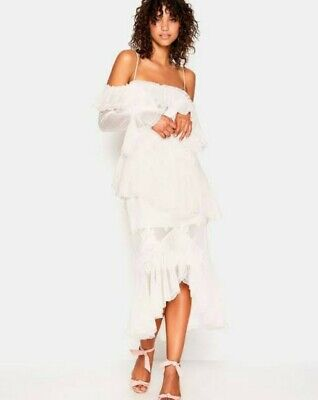 AU150 • Buy Alice McCall 10 All I Know Ivory Lace Off The Shoulder Long Sleeve Ruffle Dress