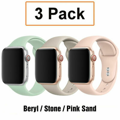 AU8.99 • Buy For Apple Watch 6 5 4 3 2 1 IWatch SE 42 40mm 3 Pack Silicone Sport Band Strap