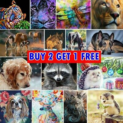 £5.99 • Buy 5D Full Drill Diamond Painting Embroidery Cross Sitch Kits Animal Scenery Mural