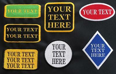£3.50 • Buy Embroidered Personalised Name Badges Patches Tags Biker School Club Iron On Sew