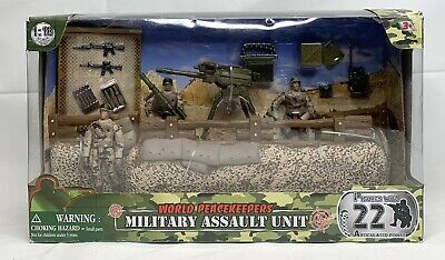 $34.99 • Buy World Peacekeepers Military Defense Unit 1:18 Scale 3 Figure Army Playset