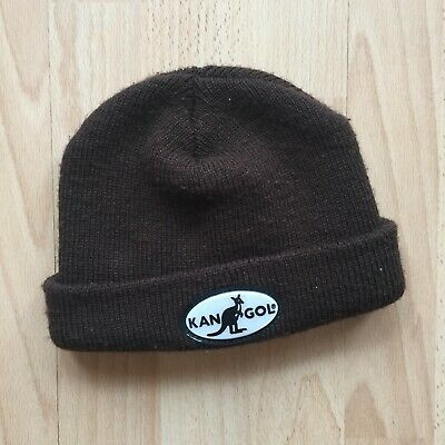 £19.99 • Buy Vintage Mens Brown Kangol Made In England Knitted Beanie Fishermans 80s 90s