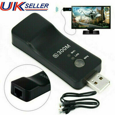 £7.99 • Buy 1X Wireless LAN Adapter WiFi Dongle RJ-45 Ethernet Cable For Samsung Smart TV UK