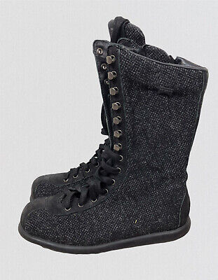 £38 • Buy Camper Kvadrat Together Grey Lace Up Ankle Mid Calf Boots Shoes Military 37 4