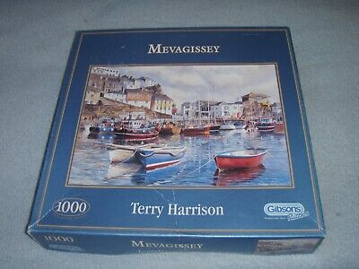 £5.99 • Buy Gibson's 1000 Piece Jigsaw Puzzle Mevagissey By Terry Harrison