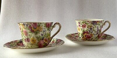 $ CDN36.60 • Buy 2 VINTAGE ROYAL WINTON GRIMWADES SUMMERTIME China CUPS & SAUCERS Made England