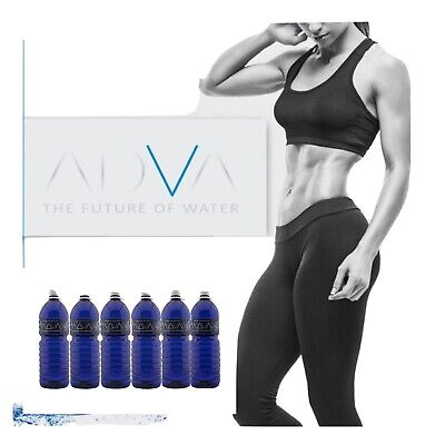 £17.99 • Buy ADVA Water PH9+ Structured Alkaline Ionised 2l (Pack Of 6) UV Protective BTL