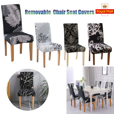 £4.90 • Buy Dining Chair Seat Covers Spandex Slip Banquet Protective Stretch Covers Decor UK