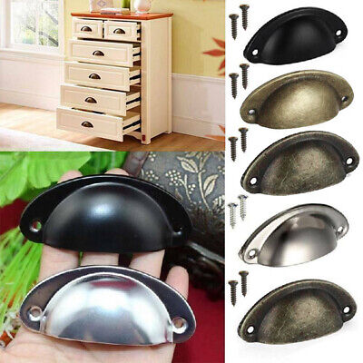 £5.99 • Buy 6/12pcs Cup Handle Shell Pull Kitchen Cupboard Cabinet Door Furniture Drawer UK