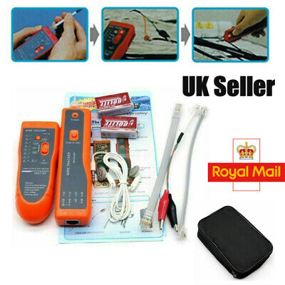 Telephone Network Cable Wire Line LAN Cable RJ45/11 Tracker Toner Tracer Tester • 17.79£