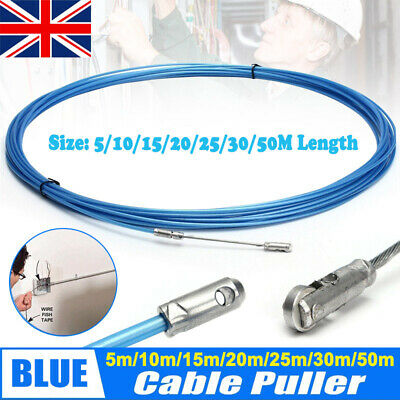 Electricians Tape Cable Puller Tool Rods Wires Draw Push Pulling 5/10/20/30/50M • 4.59£