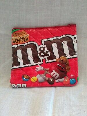 $19.99 • Buy Peanut Butter M&m's Small 6×6  Bag. Pouch. Case. Purse. Wallet.with Zipper