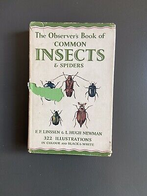 £8 • Buy The Observers Book Of Insects And Spiders 1954 Pocket Book Series