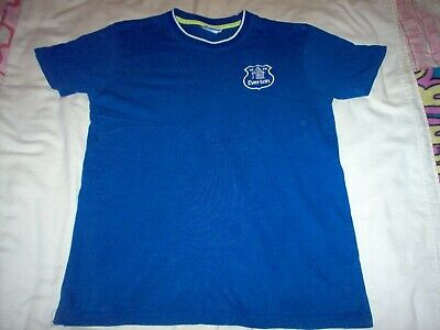 Mens Short Sleeve Blue Everton Football Club T-shirt Size Medium • 5.49£
