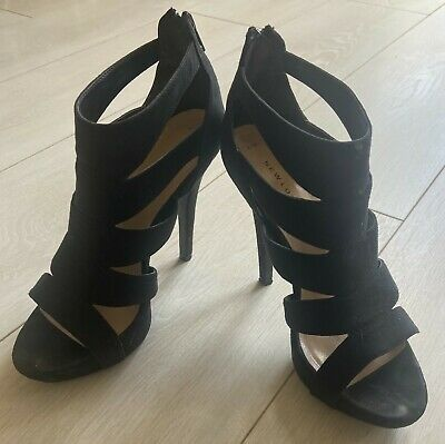 £6.99 • Buy NEW LOOK Black Gladiator Cage Shoes Sandals Size 4