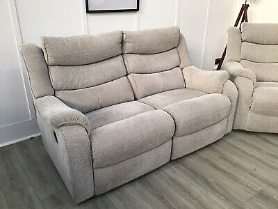 £1099 • Buy Parker Knoll Large 2 Seat Seater Electric Reclining Sofa Mixed Fabric (Denver)