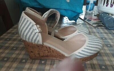 Evans Womens Size 6 Eee Extra Wide Fit Wedge Shoes • 8£