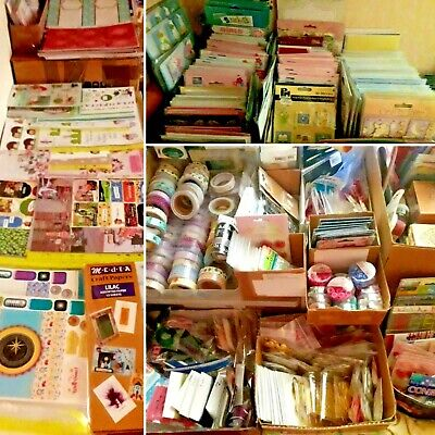 £24.99 • Buy Craft Bundle Job Lot Clearance - 50 Assorted Items - Card Making & Paper Crafts