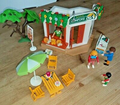 Playmobil Camping Shopcafe With Figures And Accessories • 5.99£