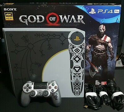 AU599 • Buy PS4 Pro 1TB Limited Edition God Of War Console *Rare Console* - Boxed