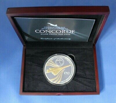 AU422.43 • Buy 2019 Jersey 5oz Silver Proof £10 Coin  Concorde Anniversary  In Case With COA