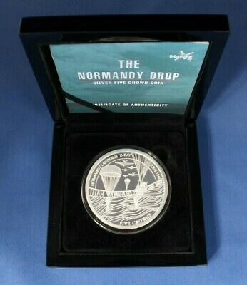 AU404.45 • Buy 2019 TDC 5oz Silver Proof Coin  The Normandy Drop  In Case With COA