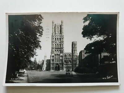 Ely Cathedral, West View, Cambridgeshire, Old RP Postcard, Walter Scott  • 4£