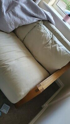 £250 • Buy Futon Company 2 Seater Double Futon Sofa Bed With Mattress & 2 Back Cushions