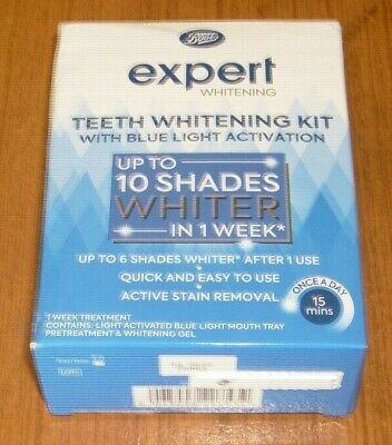 AU17.89 • Buy Boots Expert Whitening - Teeth Whitening Kit With Blue Light Activation