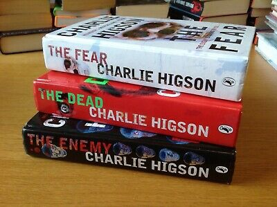 £10 • Buy Charlie Higson Books The Enemy The Dead Signed The Fear Hardback Zombies