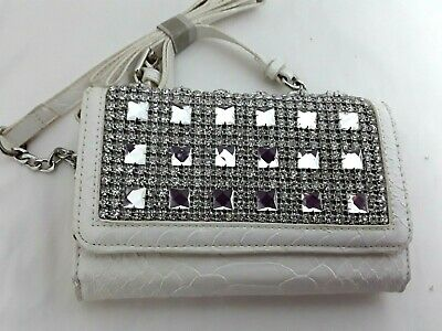AU22.65 • Buy FOREVER NEW Cross Body Bag Shoulder Evening  Cream Off White Silver Small BNWOT