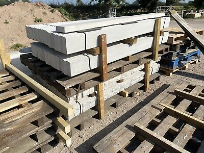 """£10 • Buy New - Smooth Reinforced Concrete Fencing Gravel Boards / Base Panels - 6x6"""""""