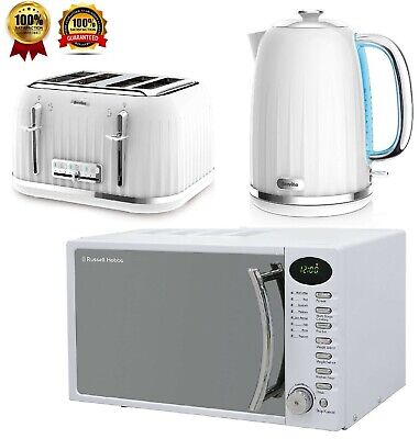 £189.99 • Buy White Breville Impressions Set Electric Kettle & 4 Slice Toaster With Microwave