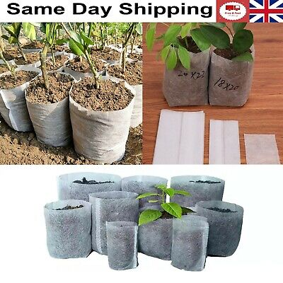 £3.79 • Buy Plant Grow Bags Biodegradable Non Woven Fabric Nursery Plant Ventilate Bags 10pc