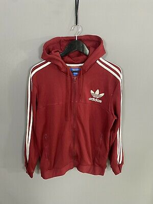 £39.99 • Buy ADIDAS HOODED FIREBIRD Track Top - Large - Burgundy - Great Condition - Men's