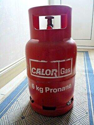 One Calor Gas Bottle 6kg, Propane, Some Gas  • 11.50£