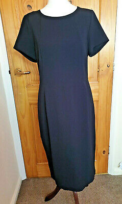 Next Size 12 Smart Evening Occasion Work Office Black Pencil Knee Length Dress • 15.99£