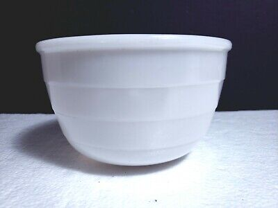 $12.99 • Buy Vtg GE General Electric Milk Glass 7.25  Mixing Bowl Ribbed Beehive MCM Kitchen