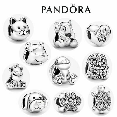 £8.88 • Buy ALE S925 Genuine Silver Pandora Friends Passions Animals Pets Charm & Gift Bag
