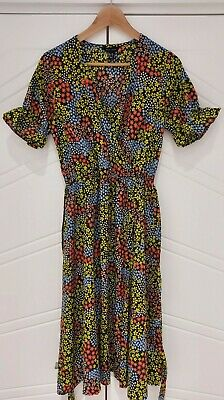 AU7.51 • Buy New Look Size 10 Floral Midi Dress