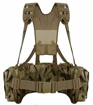 £37.99 • Buy Mtp Mod Airborne Lightweight Webbing Camo Cadet Tactical 3 X Utility Pouches