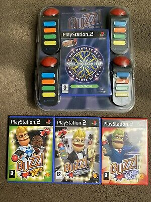 £26.99 • Buy Playstation 2 PS2 Buzz Party Game Who Wants To Be A Millionaire Buzzers & Extras