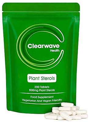 £31.97 • Buy Clearwave Health Plant Sterols 800mg - 200 Tablets - High Strength - GMP - Made