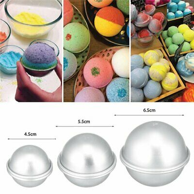 £3.68 • Buy 6x Metal Bath Bomb DIY Soap Mold Sphere Fizzy Craft Cake Candle Tart Moulds