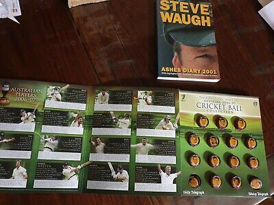 AU49 • Buy BULK LOT OFFICIAL Ashes Series CRICKET BALL COLLECTION 2006-07 FULL SET + Signed