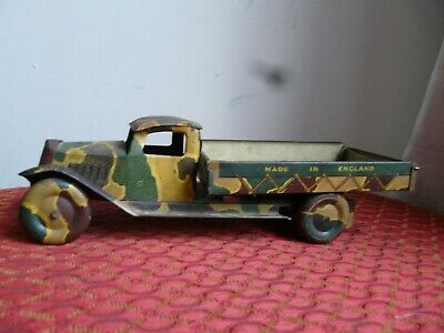 £65 • Buy Tinplate  Army Tipper Truck  Mettoy  Tri=ang   Wells  Brimtoy