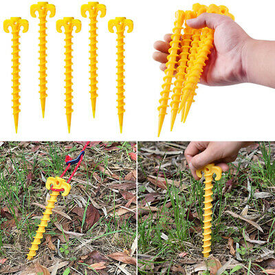 10x PlasticTents Hook  Stakes Camping Accessories Ground Support Nails Peg Screw • 8.39£