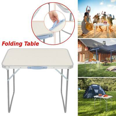 £19.85 • Buy Aluminum Folding Table Catering Out/Indoor Traveling Camping Picnic BBQ Party UK