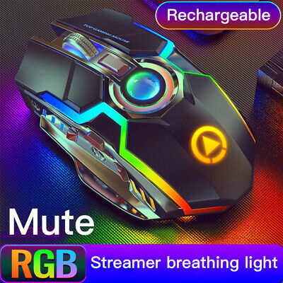 AU13.89 • Buy LED Wired Wireless Gaming Mouse USB Ergonomic Optical For PC Laptop Rechargeable